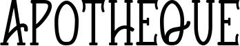 Apotheque Font