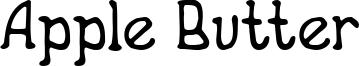 Apple Butter Font