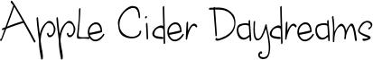 Apple Cider Daydreams Font