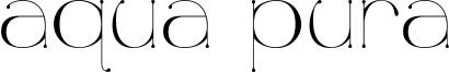 Aqua Pura Font