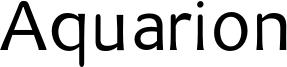Aquarion Font