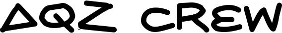 AQZ Crew Font