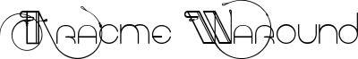 Aracme Waround Font