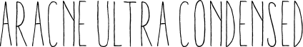 Aracne Ultra Condensed Font