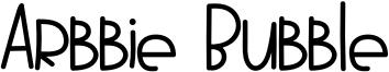 Arbbie Bubble Font