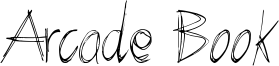 Arcade Book Font
