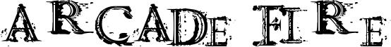 Arcade fire Font