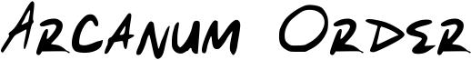Arcanum Order Font