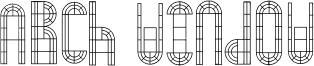 Arch Window Font