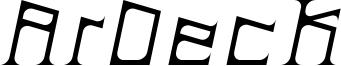 ArDeck Italic.ttf