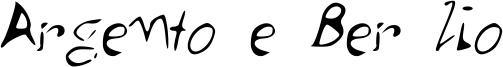 Argento e Ber lio Font
