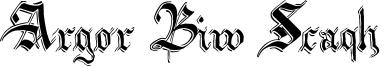 Argor Biw Scaqh Font