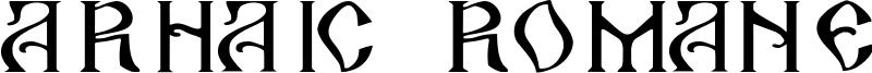 Arhaic Romanesc Font