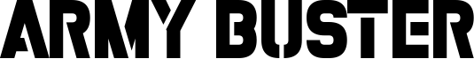 Army Buster Font