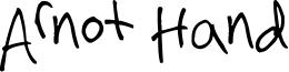 Arnot Hand Font