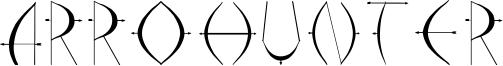 Arrohunter Font