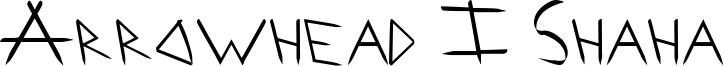 Arrowhead I Shaha Font
