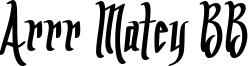 Arrr Matey BB Font