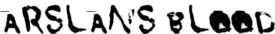 Arslan's Blood Font
