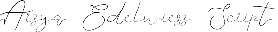 Arsya Edelwiess Script Font