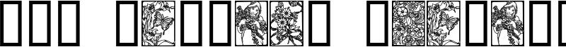 Art Nouveau Flowers Font