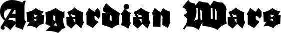 Asgardian Wars Font