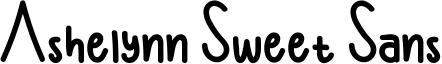 Ashelynn Sweet Sans Font