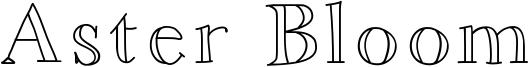 Aster Bloom Font