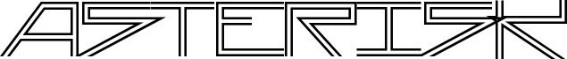 Asterisk-DoubleLine.ttf
