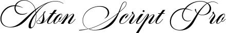Aston Script Pro Font