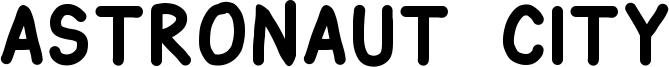 Astronaut City Font