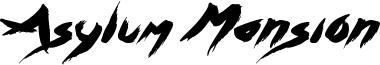 Asylum Mansion Font