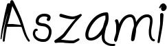 Aszami Font