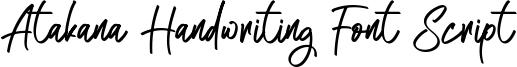 Atakana Handwriting Font Script Font