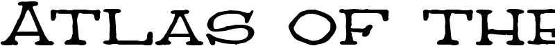 Atlas of the Magi Font