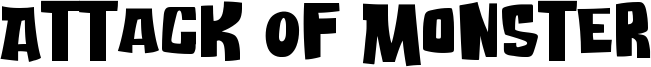 Attack Of Monster Font