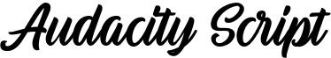 Audacity Script Font