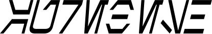 Aurebesh Condensed Italic.ttf