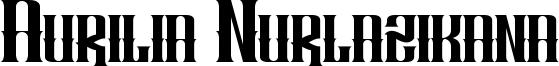 Aurilia Nurlazikana Font