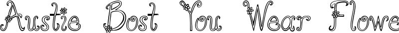 Austie Bost You Wear Flowers Hollow.ttf