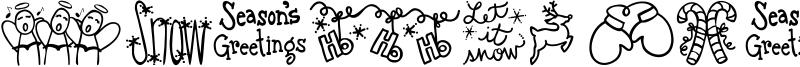 Austie Bost Christmas Doodles Font