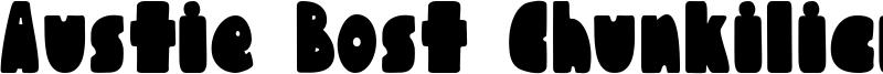 Austie Bost Chunkilicious Font