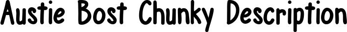 Austie Bost Chunky Description Font