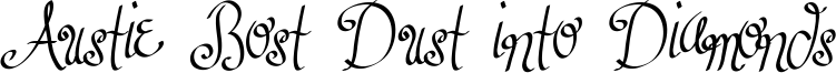Austie Bost Dust into Diamonds Font