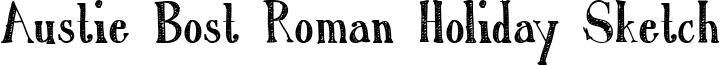 Austie Bost Roman Holiday Sketch Font