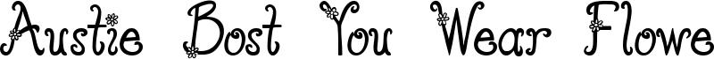 Austie Bost You Wear Flowers Font
