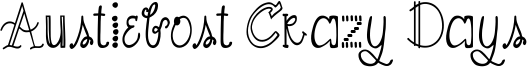 Austiebost Crazy Days Font