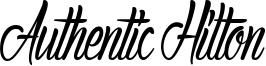 Authentic Hilton Font