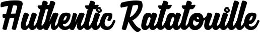 Authentic Ratatouille Font