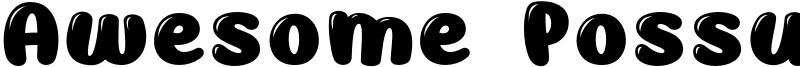 Awesome Possum Shine Font